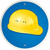 Worker helmet — Stock Vector