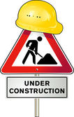 Road works — Stock Vector