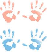 Baby handprint — Stock Vector