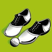 Golf shoe — Stock Vector