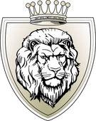 Escudo leão — Vetor de Stock