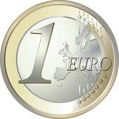 1 euro — Stock Vector