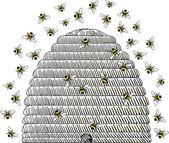 Beehive — Stock Vector