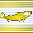 Golden fish — Stock Vector