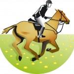 Rider — Stock Vector