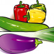 Vegetable, vegetarian — Stock Vector