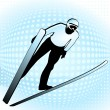 Stock Vector: Ski jumper