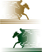 Horse race — Stock Vector