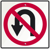 No turn-over — Stock Vector