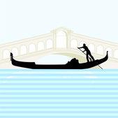 Gondola Venice — Stock Vector