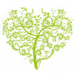 Royalty-Free Stock Vectorafbeeldingen: Heart tree