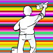 Vector de stock : Painter stripe