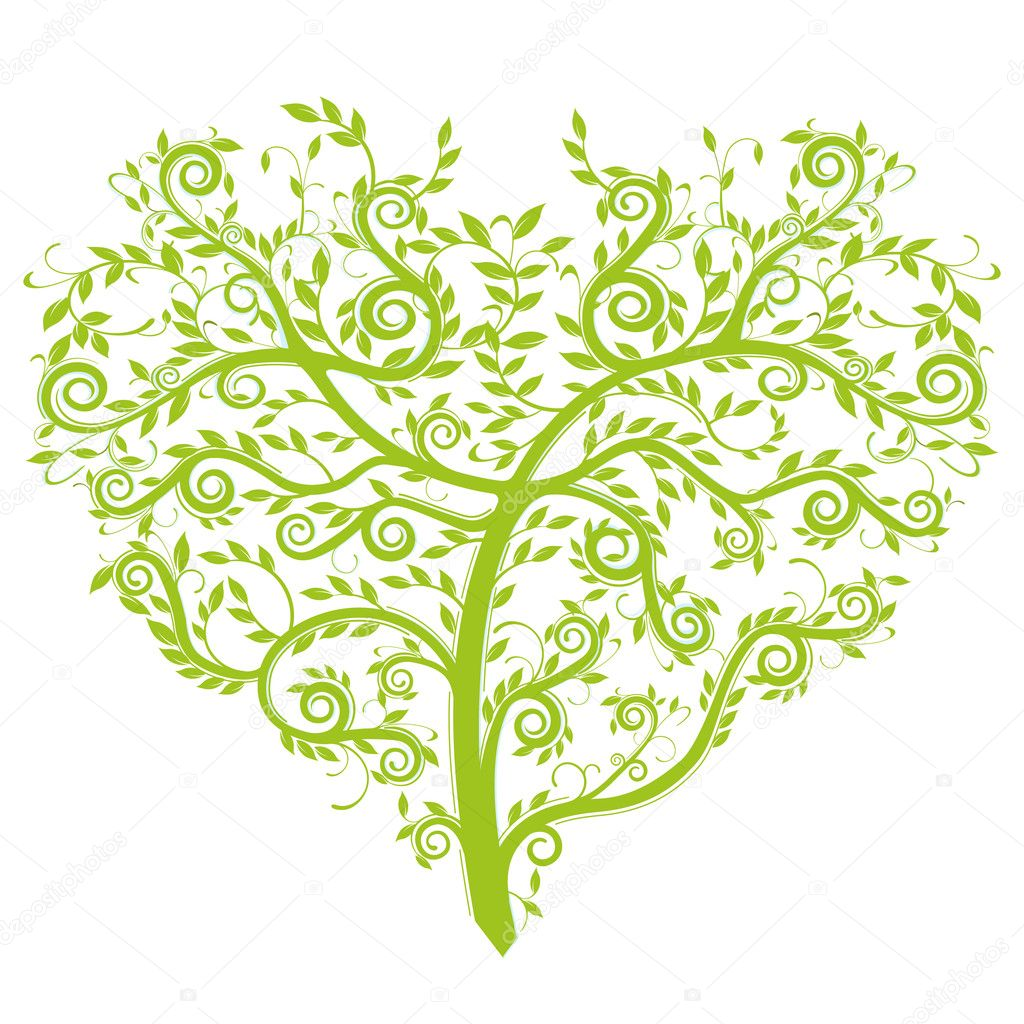heart tree  — Stock Vector #2950232
