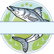 Fisherman logo - Stock Vector