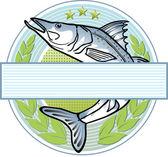 Fisherman logo — Stock Vector