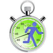 Stopwatch runner — Stock Vector