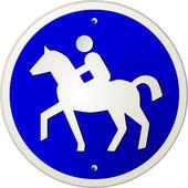 Segno di equitazione — Vettoriale Stock