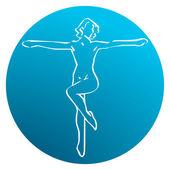 Dance & Gymnastic Studio — Stock Vector