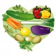 I love vegetables — Stock Vector