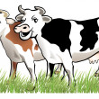 2 happy cows — Stock Vector #3016549