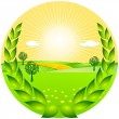 Stock Vector: Farming award