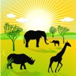 African savannah — Stock Vector