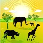 African savannah — Stock Vector
