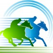 Horse-racing — Stock Vector