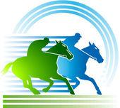 Corrida de cavalos — Vetor de Stock