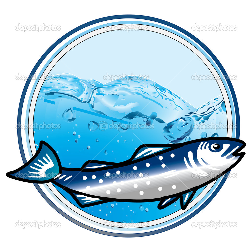 Underwater fish sign  — Stock Vector #3024141