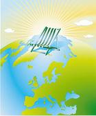 Globalne ocieplenie, słońce — Wektor stockowy