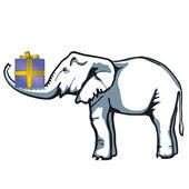 Elephant present — Stock Vector