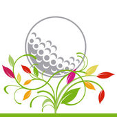 Golf and trailing plant — Stock Vector