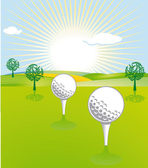 Golf unique landscape — Stock Vector