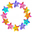 Vector de stock : Little happy stars
