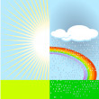 Rainbow and sunshine — Stock Vector #3117659