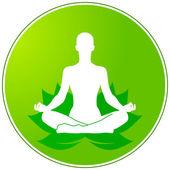 Green yoga — Stock Vector