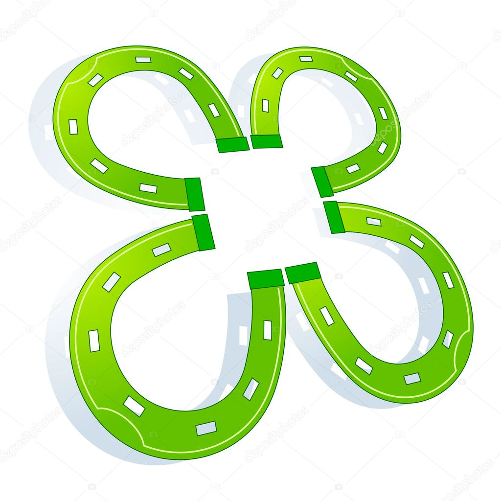 Clover horse shoe  Stock Vector #3123026