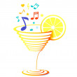 Royalty-Free Stock Vector Image: Cocktail and sheet music