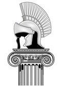 Timón y columna — Vector de stock