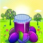Plum jam — Stock Vector