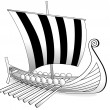 Stock Vector: Viking boat