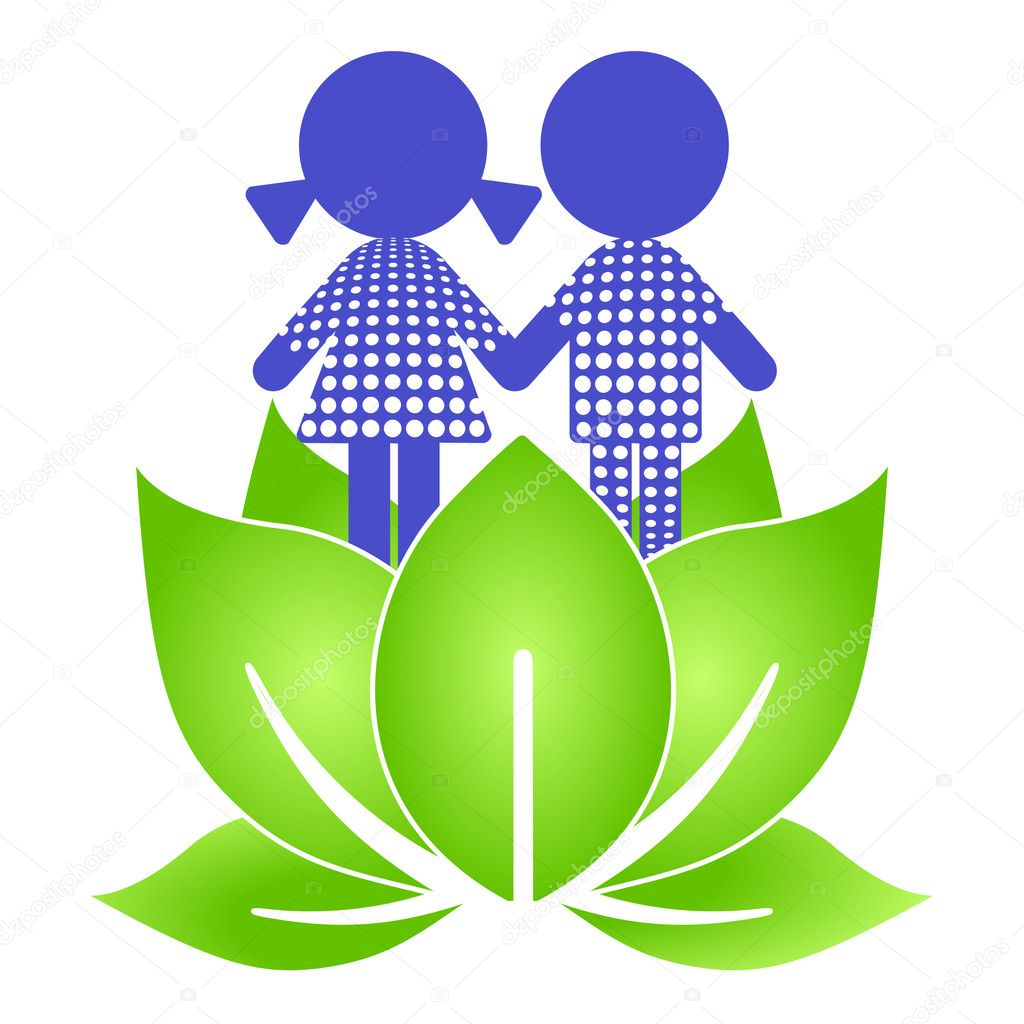 Lotus kids — Stock Vector #3184265