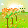 Autumn colorful — Stock Vector