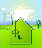 Wind-solar energy — Stock Vector