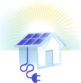 Solar power — Stock Vector