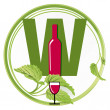That's a wine sign — Stock Vector