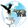 Animal world natural heritage — Cтоковый вектор