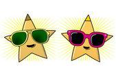 Sunglasses and stars — Stock Vector