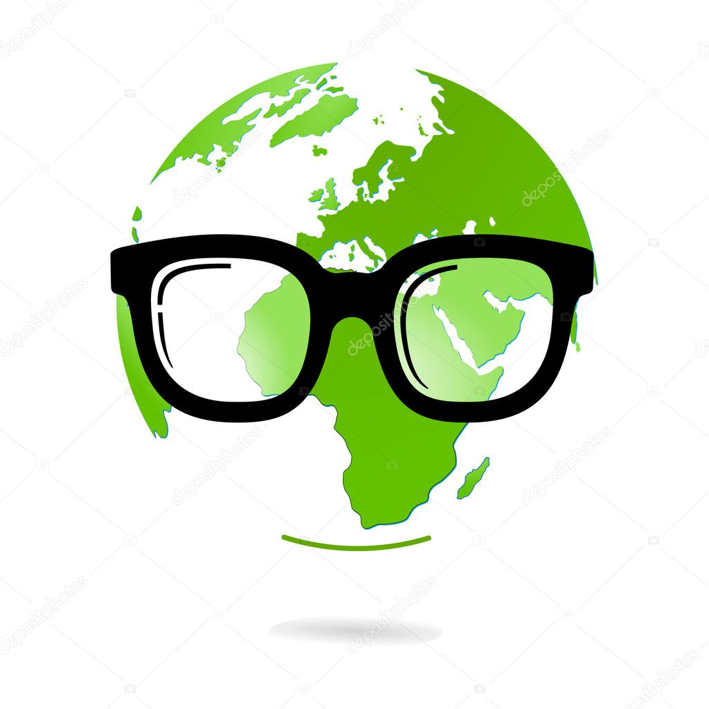 Eyeglasses and world natural heritage — Stock Vector #3397204